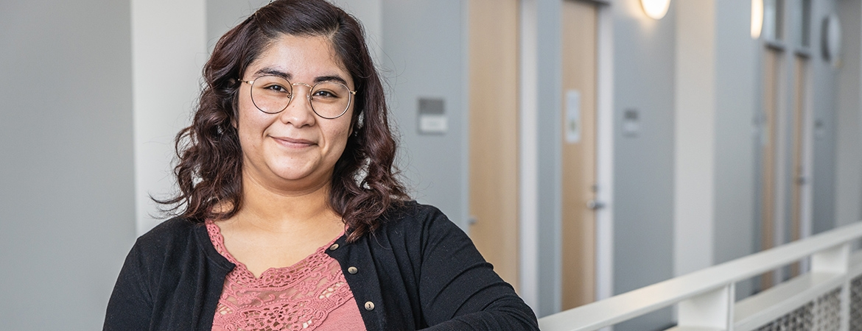 Graduate student Maria Ramirez Loyola